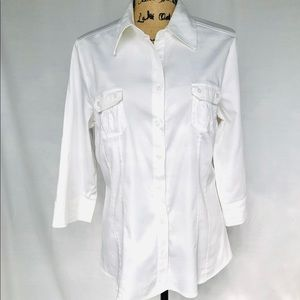 APT. 9 White Stretchy Essential Blouse